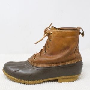 LL Bean Thinsulate Lined Duck Boots 8 Inches Sz 11